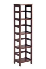 Tall Narrow Shelving Unit Shelf Display Tower Furniture Book Wooden Shelves Wood