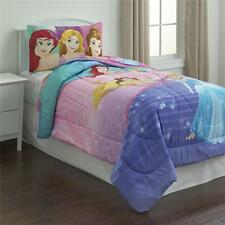 Twin Size Kids Girls Disney Princess Reversible Comforter Bedding