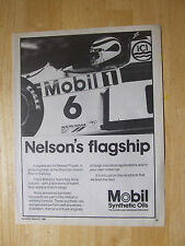 NELSON PIQUET MOBIL 1 OIL POSTER ADVERT READY TO FRAME A4 SIZE