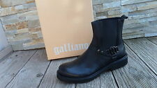GALLIANO Stiefeletten Gr 45 booties Stiefel Schuhe shoes black nero NEU UVP 450€
