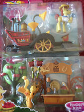 My Little Pony lot SUPER SPEEDY SQUEEZY & Sweet Apple Juice Stand Applejack Flam