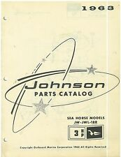 Vintage 1963 Johnson 3 hp Sea Horse Boat Motor Parts Catalog Models JW-JWL