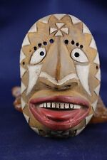 Vintage Native American Yaqui Dance Mask, Hand Carved and Painted