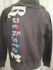 ROCKSTAR SUSHI ZIP DISTRESSED HOODIE MEN'S SIZE L NICE RARE NWT MADE IN USA