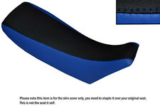 ROYAL BLUE & BLACK CUSTOM FITS HONDA CR 250 93-95 DUAL LEATHER SEAT COVER