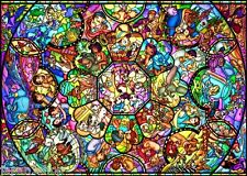 2000-Pieces Tenyo Japan Jigsaw Puzzle D-2000-603 Disney All Star Stained Glass