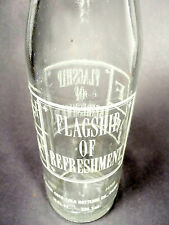 vintage ACL Soda POP Bottle:  COCA-COLA'S FLAG OF FRIENDSHIP / AKRON,OH -10 oz