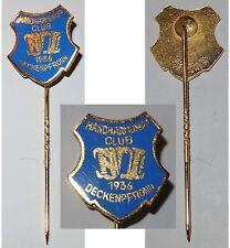 Emaillierte Anstecknadel Handharmonika Club 1936 Deckenpfronn / Musik & Gesang