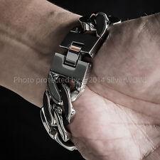 Mens HEAVY Stainless Steel Bracelet x 25mm Wide