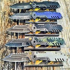 5 PC SET MTECH XTREME BALLISTIC G-10 Spring Assisted Open TACTICAL Pocket Knife