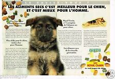 Publicité Advertising 1995 (2 pages) Aliments pour chien Royal Canin