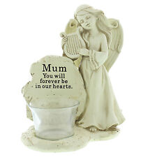 Mum Angel with Harp Tea Light Memorial Remembrance Graveside Ornament
