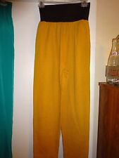 By CHOICE Ladies Size Medium GOLD with Wide BLACK Elastic Waist Poly Cotton