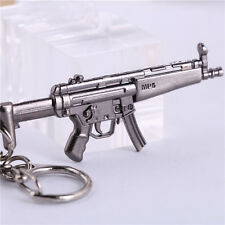 "Hot 2.56"" CF MP5 Mini Military Model GUN Metal Keychain Keyring Pendant Collect"