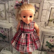 dolls dress,hair bow,18.our generation,American girl.Red check