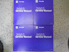 2003 GM Chevrolet Chevy Corvette Service Shop Repair Workshop Manual Set NEW