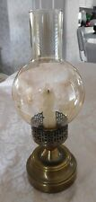 VINTAGE BRASS & GOLDEN GLASS GONE WITH THE WIND STYLE SCONCE CANDLE HOLDER