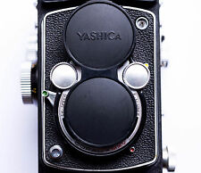 Yashica - 635, D, And Mat Replacement Front Cover - Laser Cut - Genuine Leather