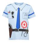 Kinder Uniform T-Shirt * Polizei Blau92/98 bis128/134