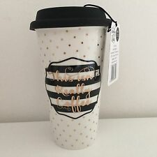 "SIMPLY CHIC PORCELAIN TRAVEL MUG NOVELTY GIFT ""This Isn't Really Coffee"""