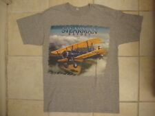 Stearman Kaydet Boeing Model 75 Biplane Fan Picture Soft Gray T Shirt L
