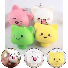 Kawaii Mushroom Expression Squishy Bread Soft Buns Scented Phone Straps Squishy