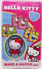 Girls Hello Kitty Make a Match Card Game Memory Matching Preschool Travel Size