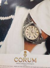 Ephemera 1996 Advert Watch Corum Suisse Switzerland M5107