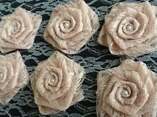6 Champagne Lace Flowers Christmas Gift Packag Wedding Rustic Shower Cake Burlap