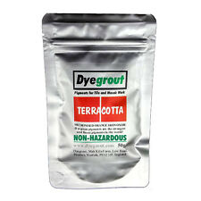 50 grams - Terracotta Grout Pigment for Mosaics Cement Dye by Dyegrout