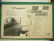 2/1968 PUB AVION AERONAUTICA MACCHI MB-326 MILITARY JET TRAINER ORIGINAL ADVERT