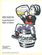 PUBLICITE ADVERTISING 015  1962  la biere d'alsace  PECHEUR