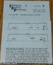 Islington Station Prodcuts #150-211C PSPX & SOEX LPG Tank Car Decals