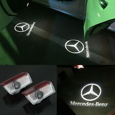 2pcs LED car Door Courtesy Ghost Shadow Logo Lights For Mercedes Benz E B C ML