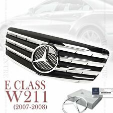 Gloss Black Front Mesh Grille Sport AMG for Mercedes Benz E Class W211 2007-08