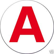 Disque A - Autocollant sticker - Jeune conducteur permis 10mX10cm ROND