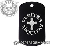 Dog Tag Military ID K9 Chain Silencer Laser Engraved BLK Veritas Aequitas 4