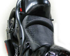 99-04-07 Hayabusa Custom Shaped Black Alligator Gator Front Seat w/White Thread