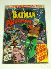 BRAVE AND THE BOLD #82 VG (4.0) DC COMICS ADAMS AQUAMAN MARCH 1969+