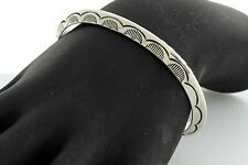 Navajo Sterling Silver Bangle by Jonathan Nez