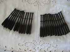 RARE 12x very dark Rosewood Square bobbin lace making bobbins, about 3 7/8 in.