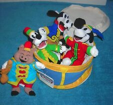 DISNEY SILLY SYMPHONIES THE BAND CONCERT 1935 BEAN BAG PLUSH SET