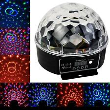 LED RGB 6 LED Disco DJ Stage Lighting LED RGB Crystal Magic Ball Effect Light