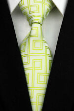 GIFTS FOR MEN Classic Mens Maze Pipe Style Silk Necktie Work Tie Two Tone Green