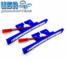 1 Pair 3D Printed Quadcopter LED Light Bar Kit for Racing Drones 12v (Blue)