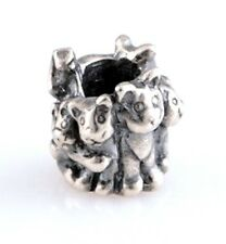 KITTY CAT GROUP HUG .925 Sterling Silver European Style Charm Bead