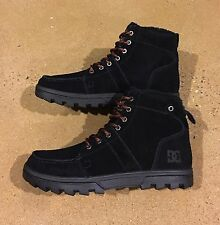 DC Woodland Boots Men's Size 12 Black Moc Toe Winter Boots BMX MOTO Sneakers