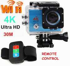 UHD 4K 1080P WIFI Remote Control Sports DV Action 30m Waterproof Camera as Gopro