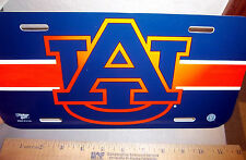 University of Auburn Tigers NCAA team plastic License Plate, made in USA