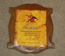 Michelob Faux Wood Sign Anheuser Busch Not All Beer's Are Created Equal Bar